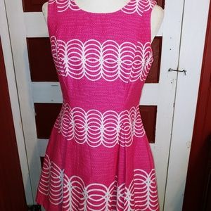 HP 🏆🔥 Just Taylor Pink & White Dress 10P
